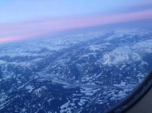 Alpy - przed lądowaniem w Monachium