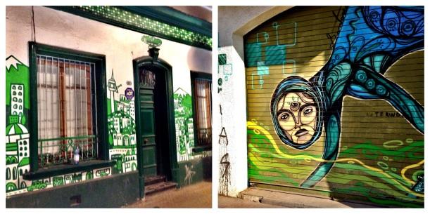 Murale w Bellavista to nieodłączny element krajobrazu. Pomalowane są kluby, knajpy ale też zwykłe domy czy nawet garażowe bramy...